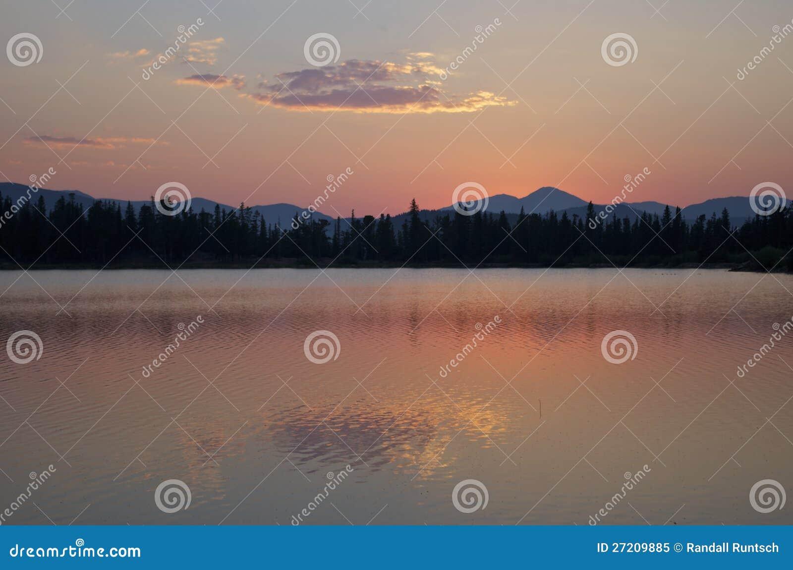 Sonnenuntergang-nahe Montierung Evans