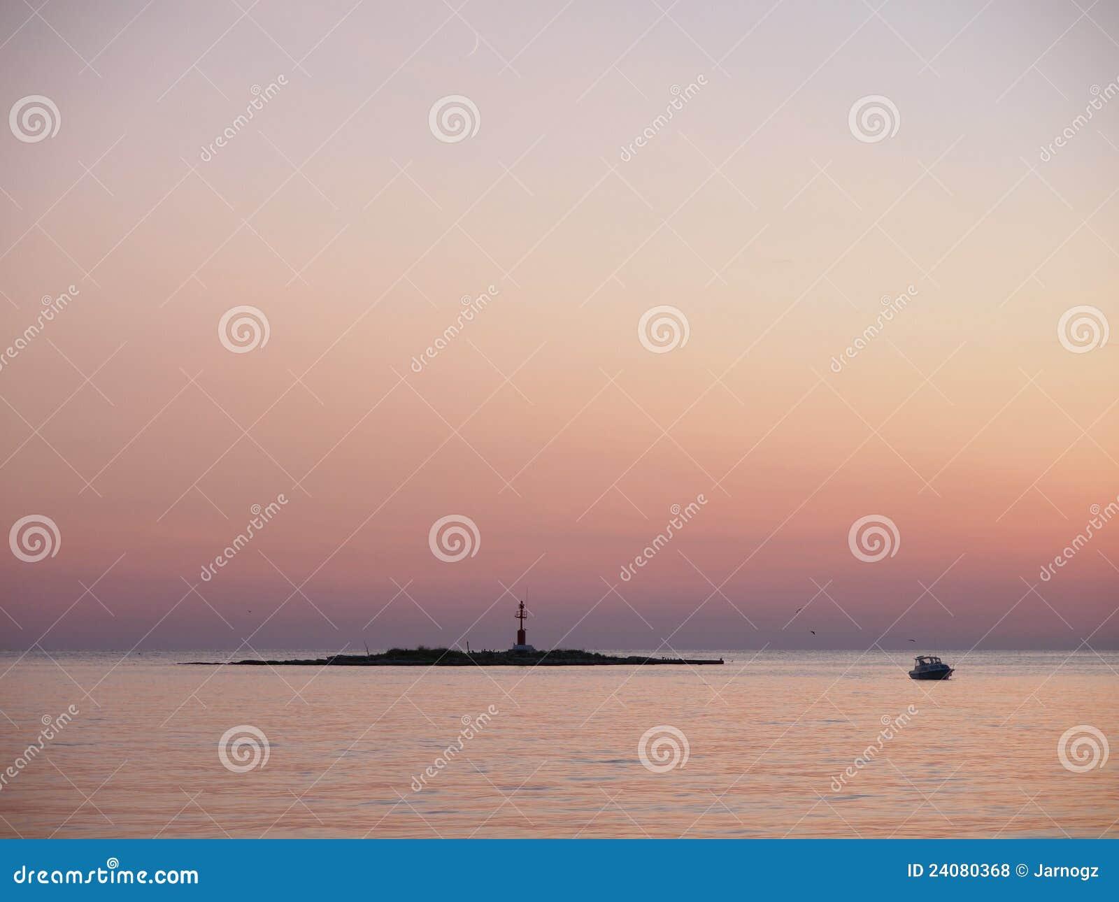 Sonnenuntergang in Porec, Kroatien