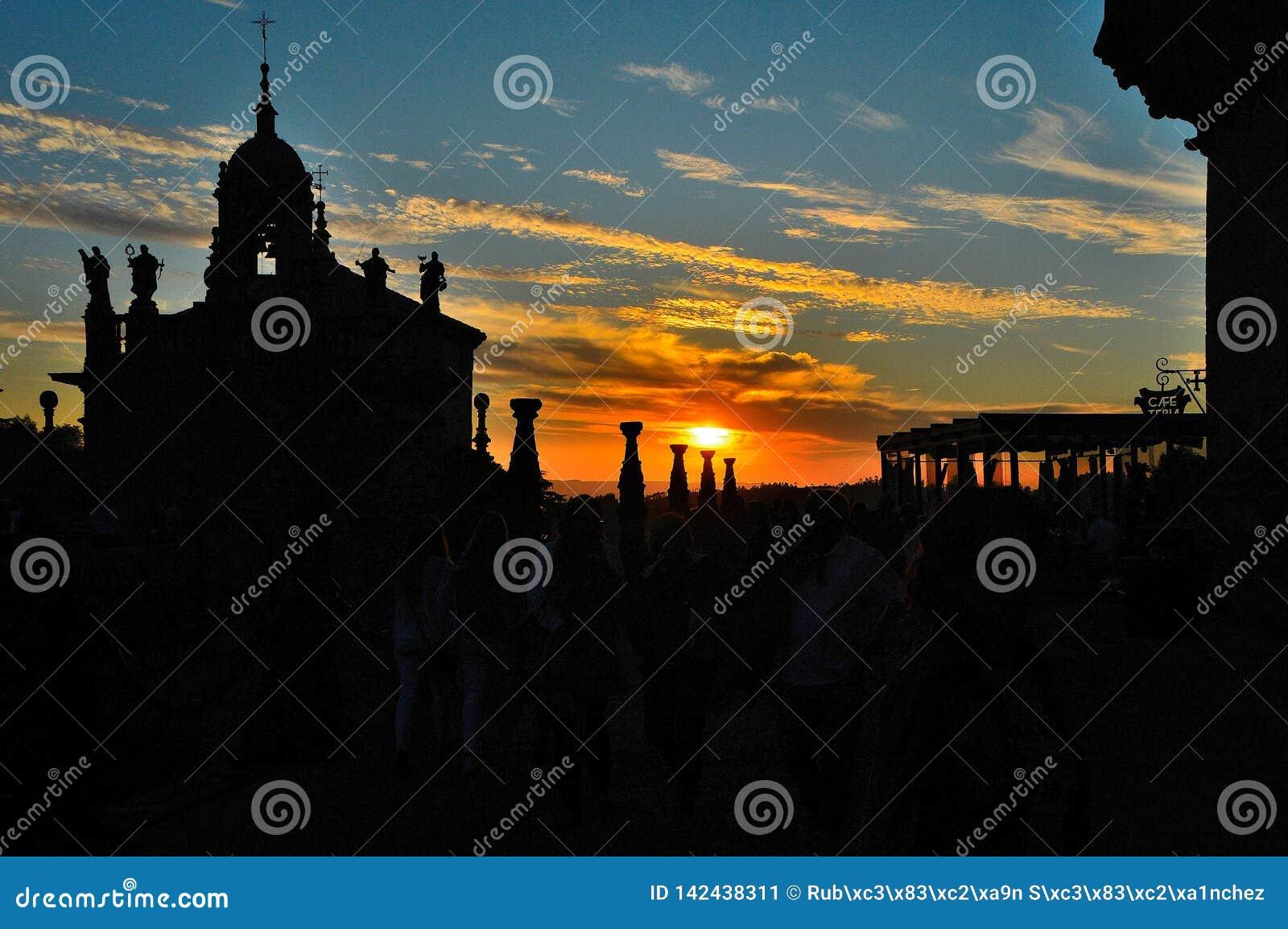 Sonnenuntergang Santiago de Compostela