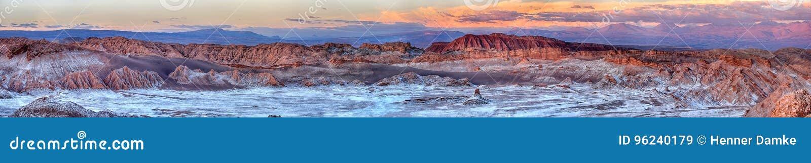 Sonnenuntergang an Valle-De Luna - an Atacama-Wüste u. an x28; Chile& x29;