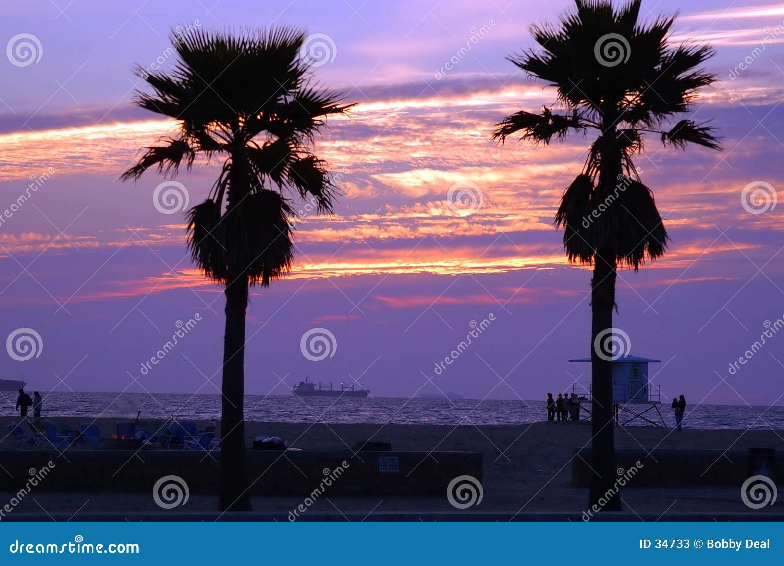 Sonnenuntergang-Verschiffen