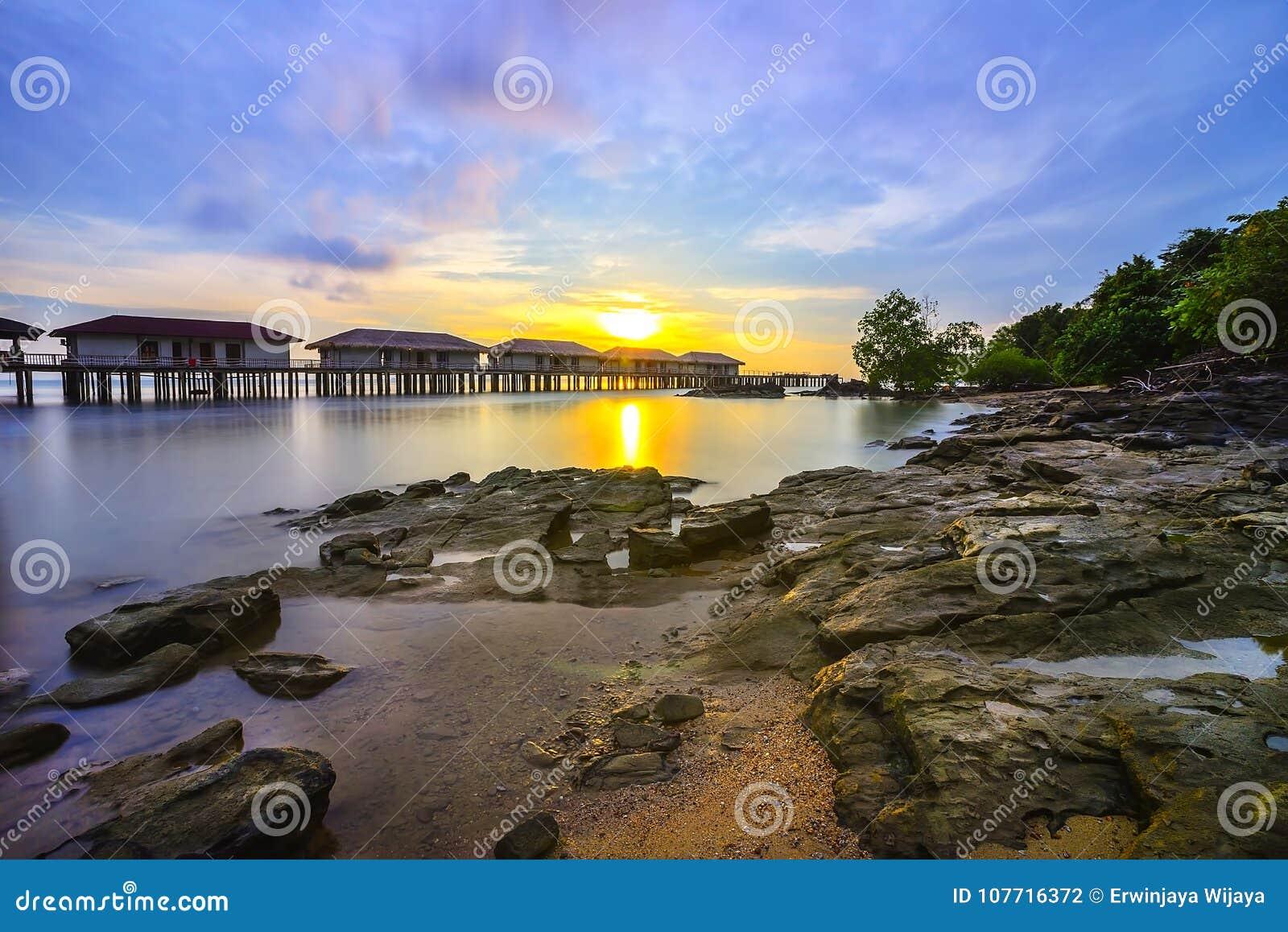 Sonnenuntergang view-3 von Batam-Insel riau Indonesien Asien