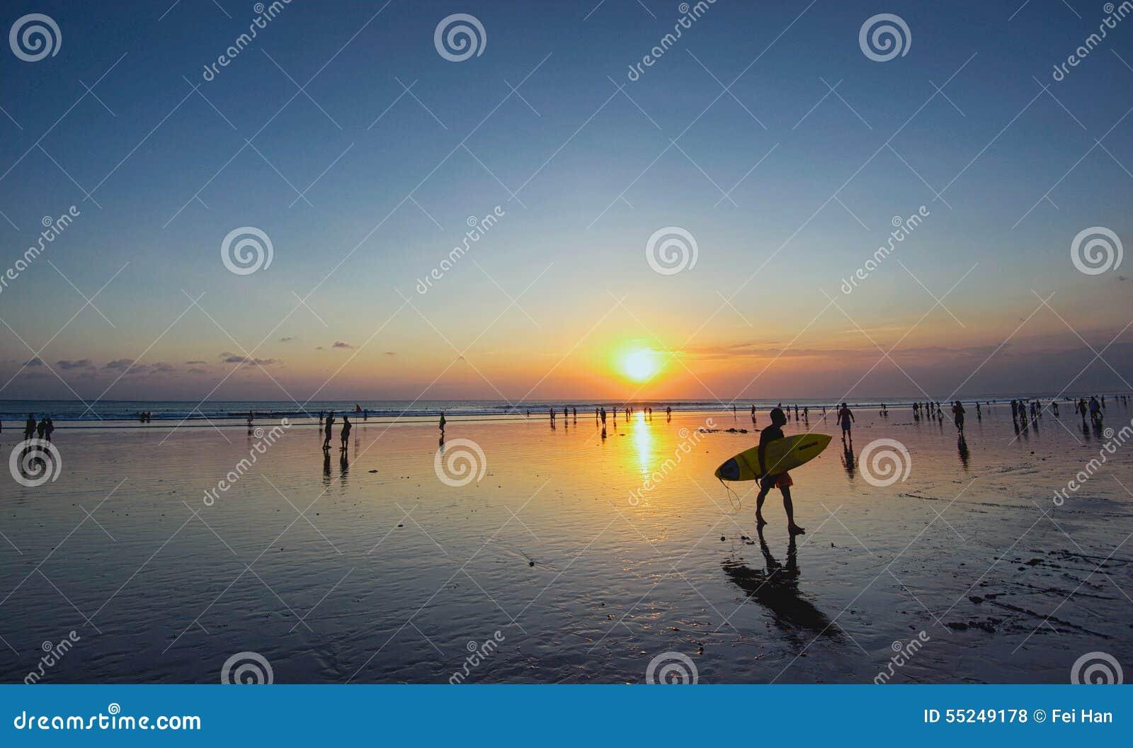 Sonnenuntergang von Bali-Insel, kuta
