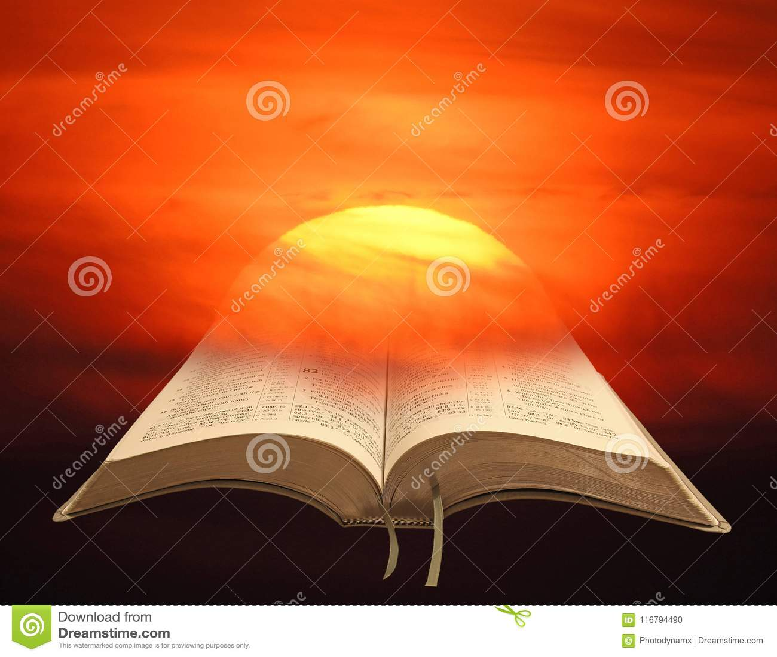 Sonnenuntergang Watercolour-Malereihimmel bewölkt Kunstbibel