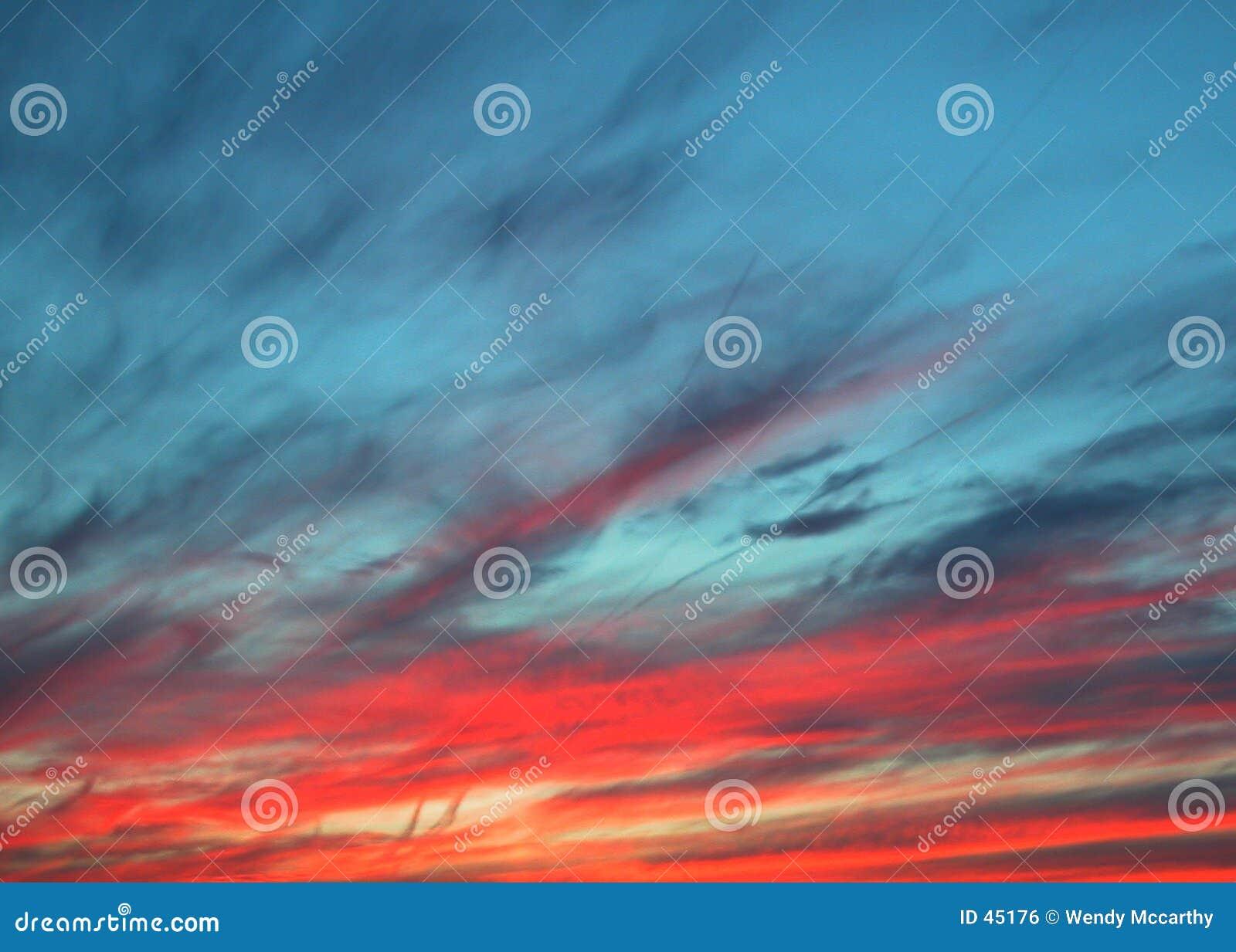 Sonnenunterganghimmel