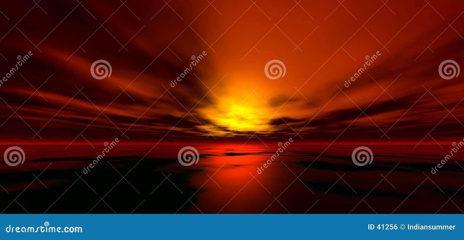 Sonnenunterganghintergrund 4