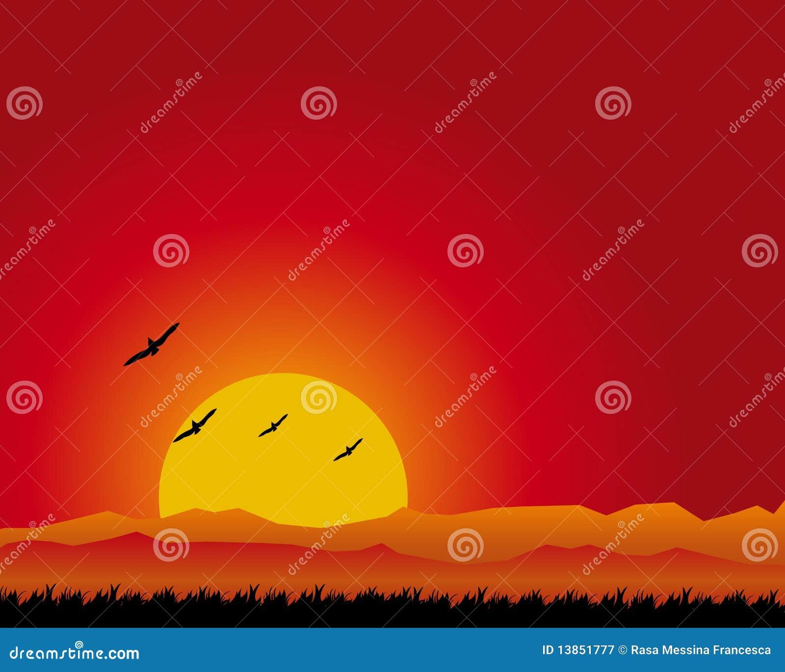 Sonnenunterganglandschaft