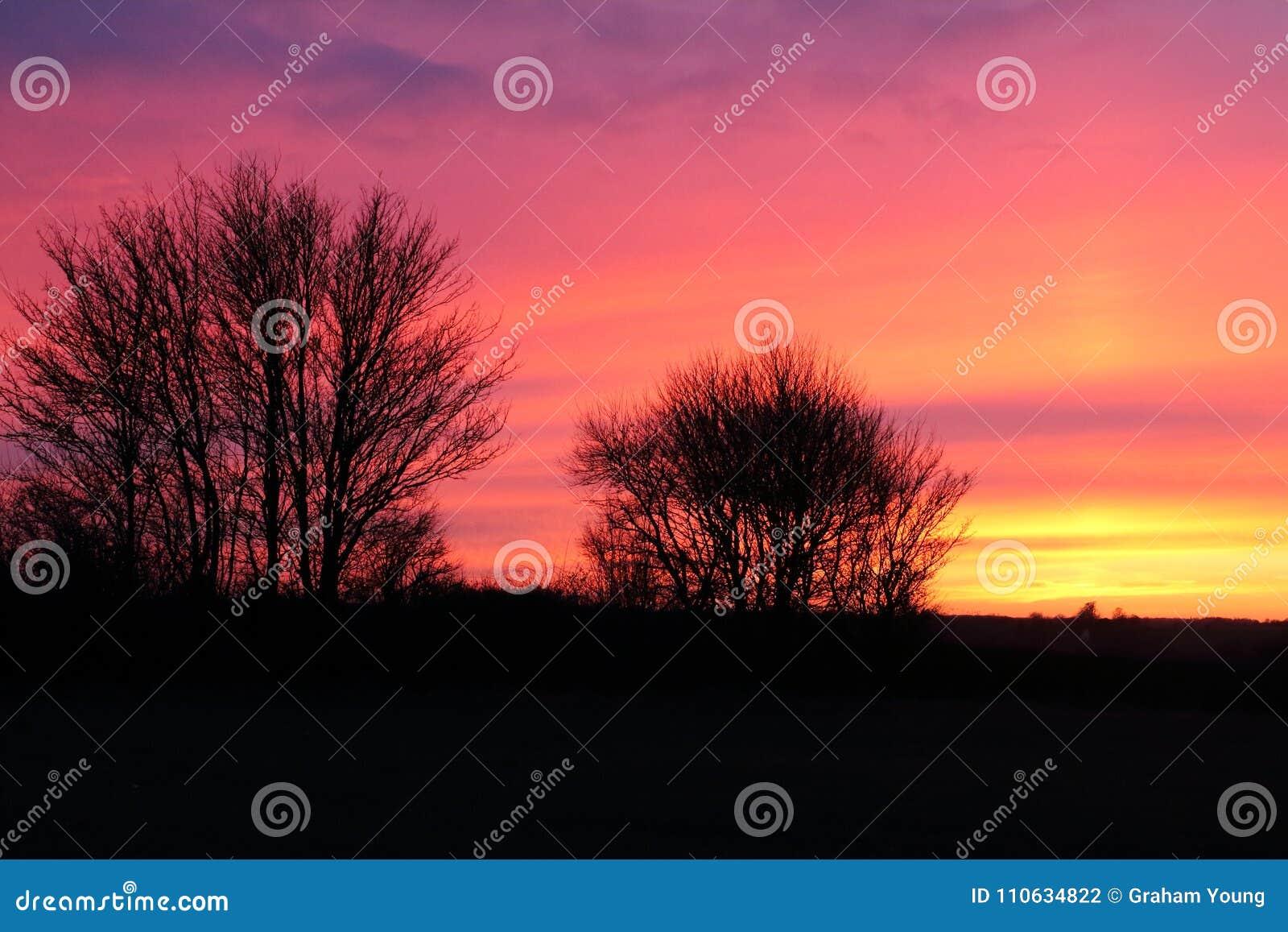 Sonnenuntergangsuffolk