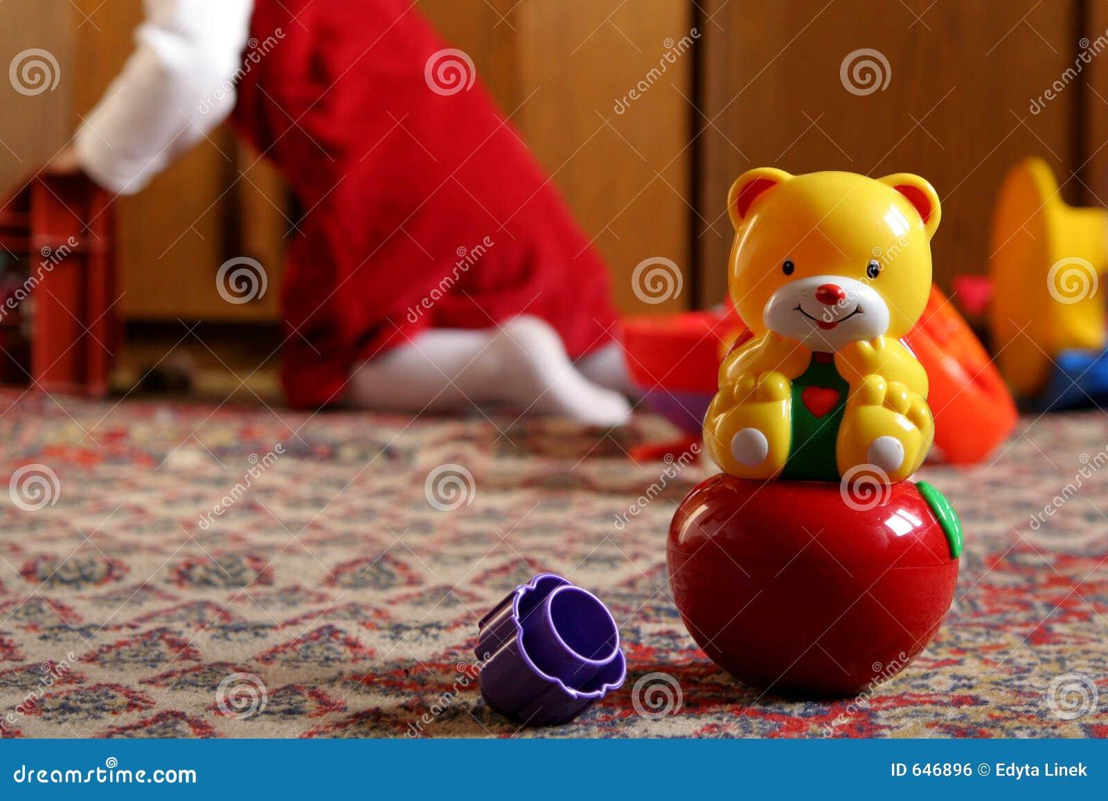 Sonniger Raum des Kindes