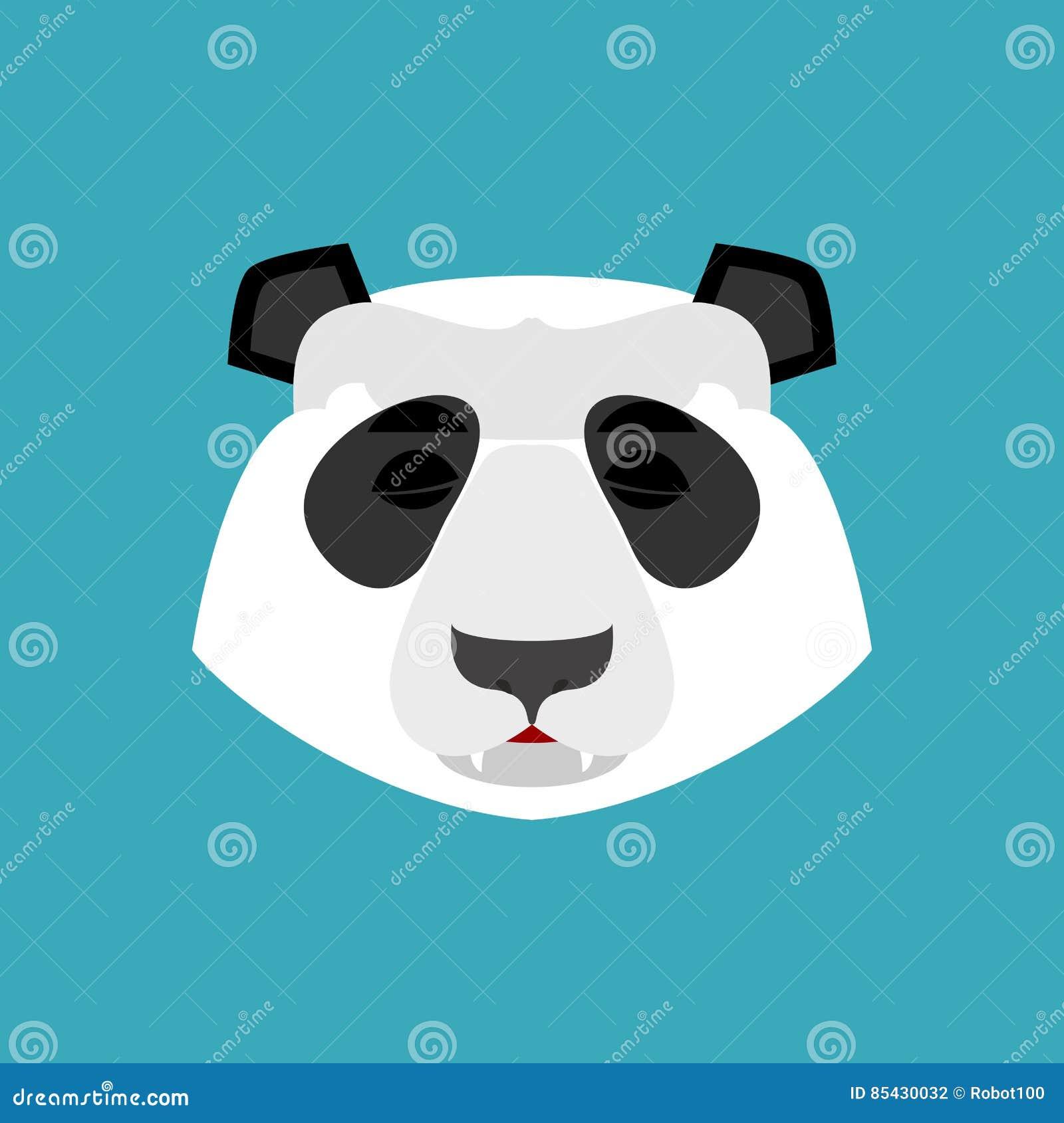 Sonno emoji del panda emozione addormentata dellorso cinese isolata