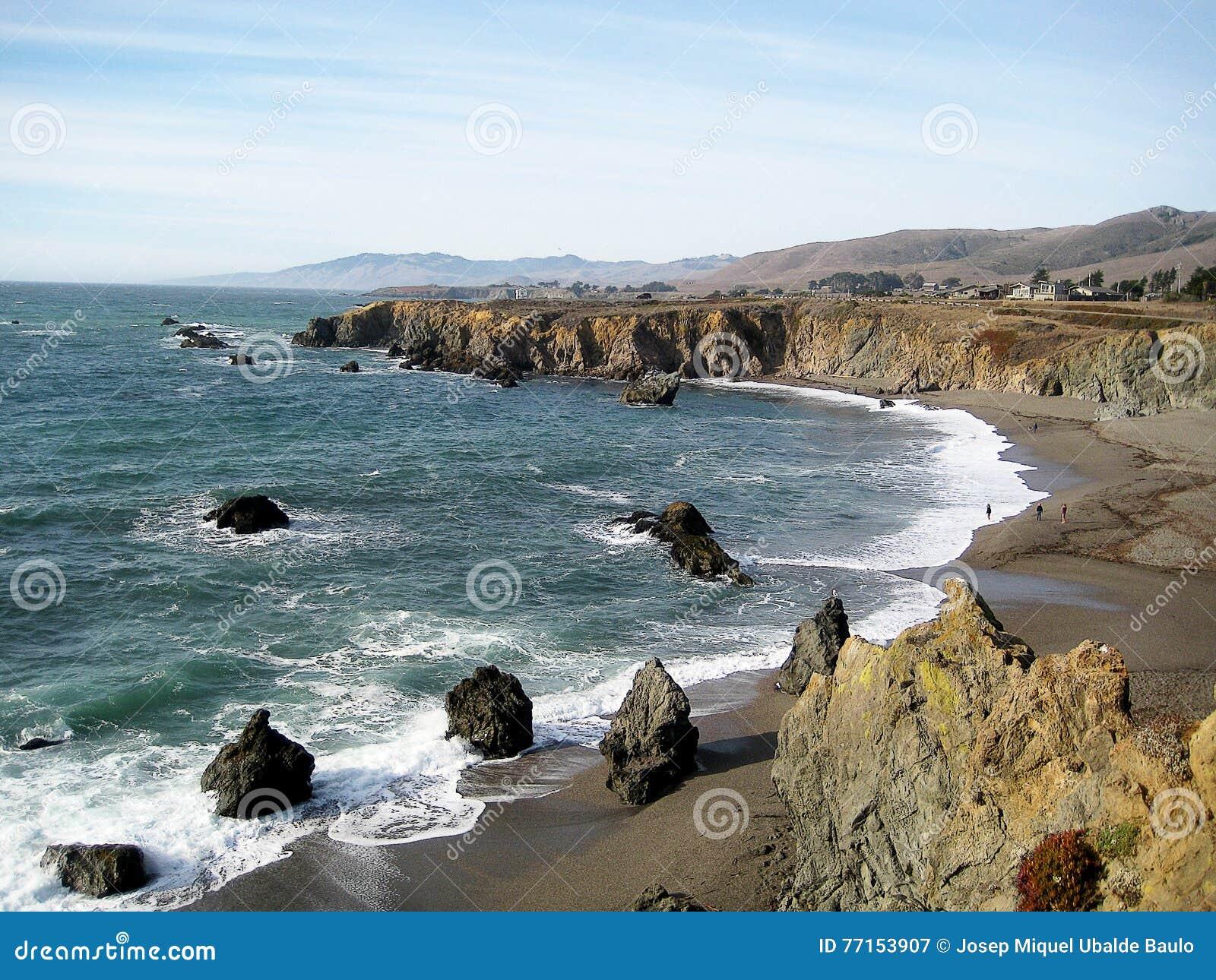 Sonoma-het Strand & x28 van de Kuststaat; California& x29;