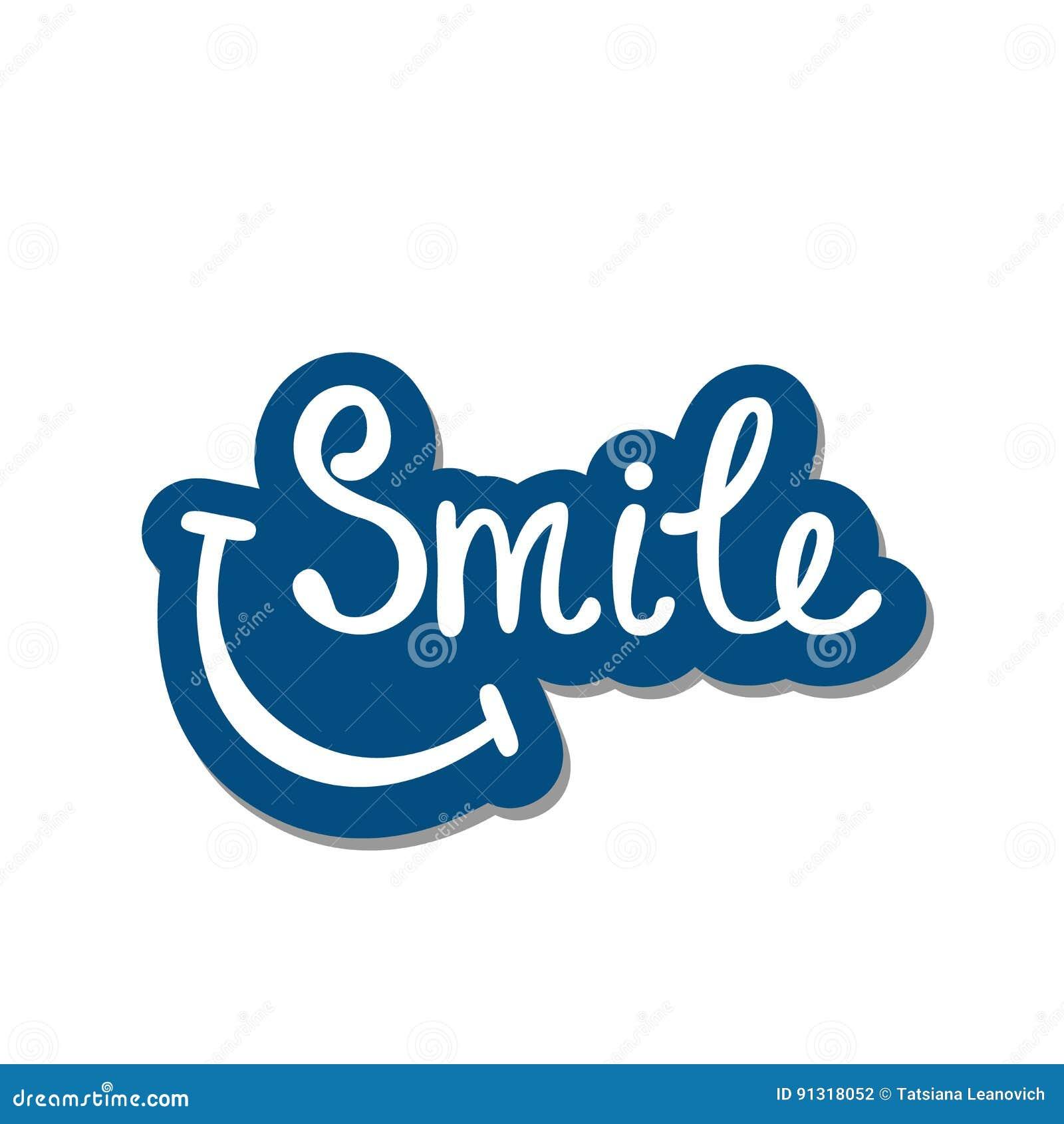 Sonrisa Cita Inspirada Sobre Feliz Ilustración Del Vector
