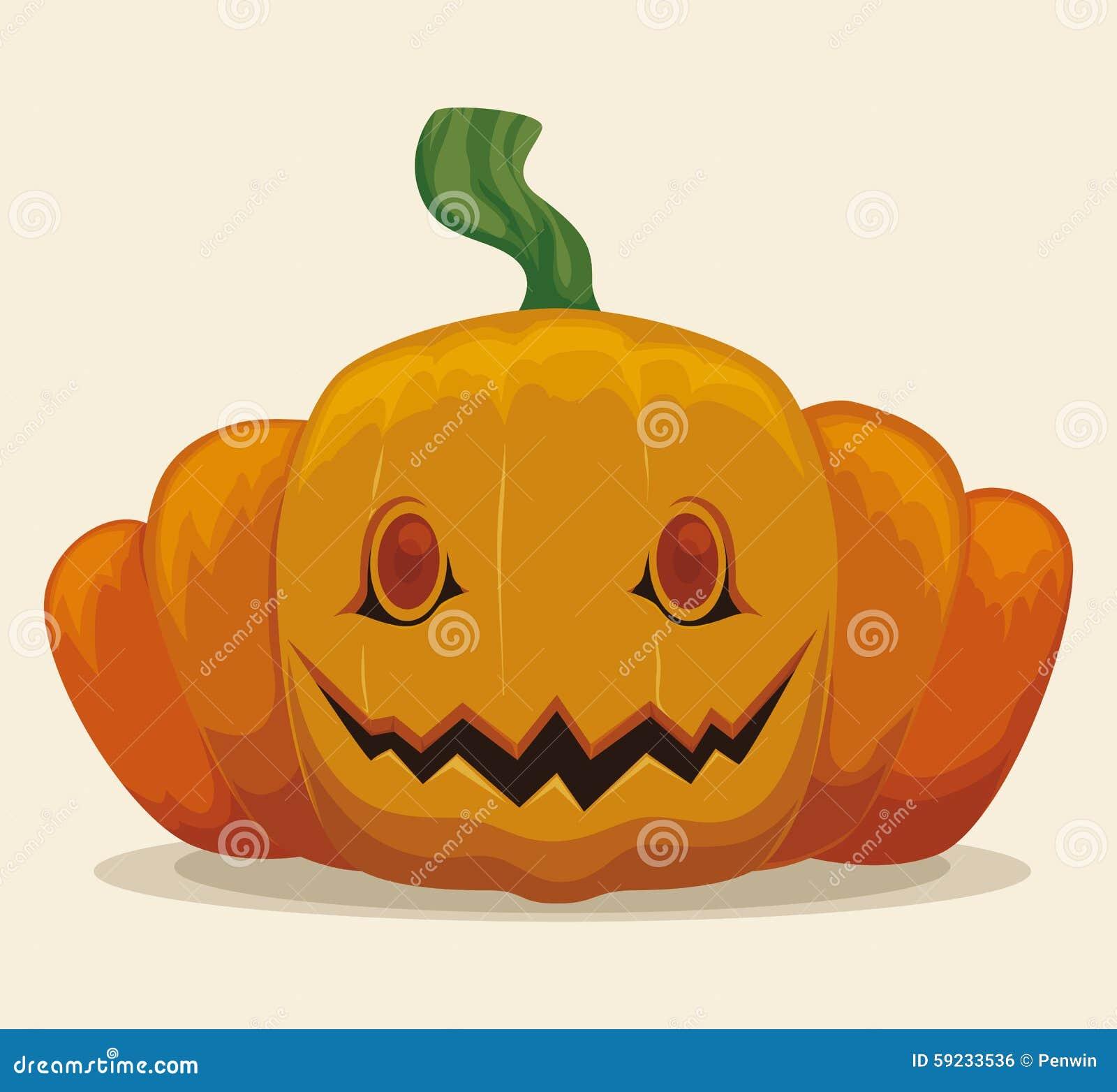 Download Sonrisa De La Calabaza De Halloween Aislada Ilustración del Vector - Ilustración de divertido, ilustración: 59233536