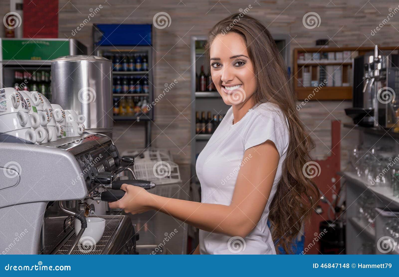 Sonrisa de la camarera