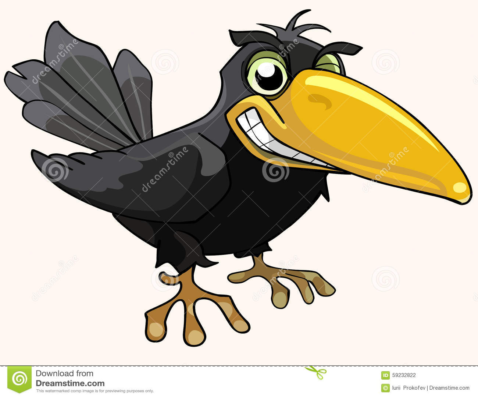 Download Sonrisa Enojada Del Cuervo Del Pájaro De La Historieta Ilustración del Vector - Ilustración de humor, diversión: 59232822