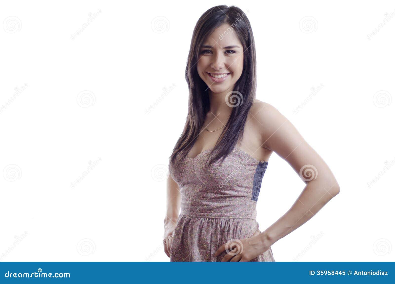 Sonrisa feliz de la muchacha