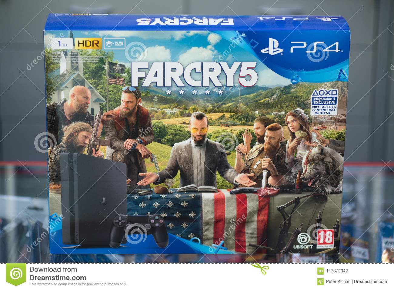 Sony Playstation 4 Console Bundled With Farcry 5 Editorial