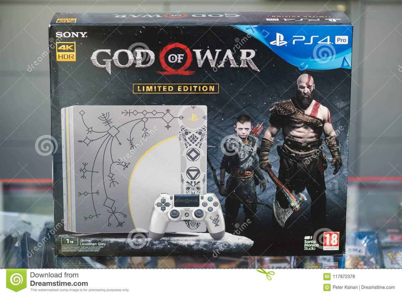 Sony Playstation 4 Pro Console Bundled With God Of War