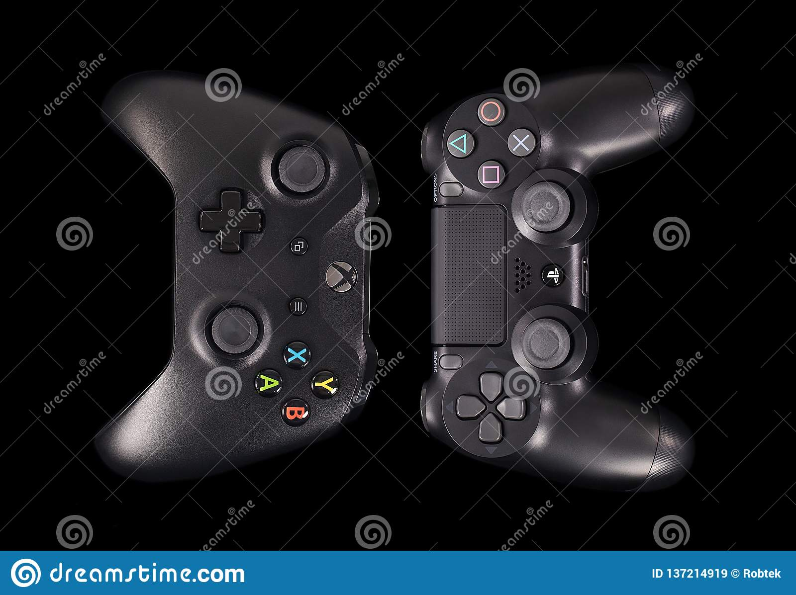 Sony PS4 Controller And Microsoft XBOX One Controller