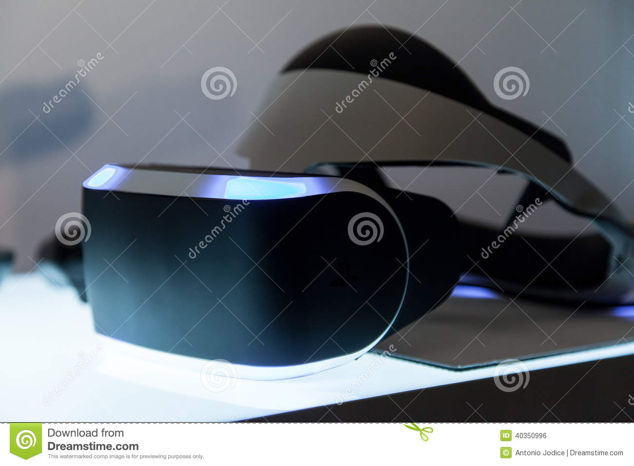 3ca45f086a6b Sony VR Headset Morpheus Product Close Up Editorial Photo - Image of ...