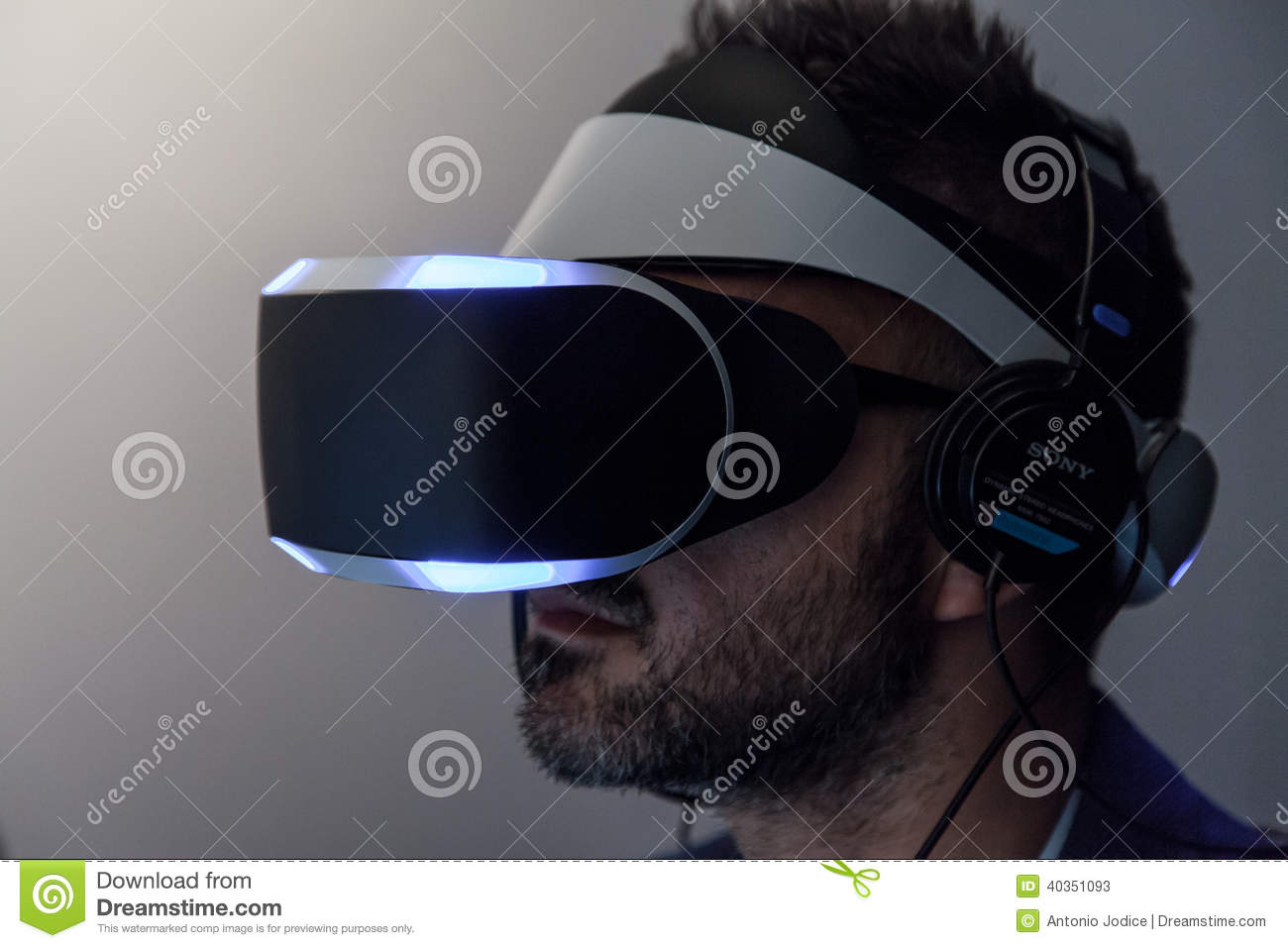 918d483bdf0e Sony VR Headset Morpheus Side Close Up Editorial Stock Photo - Image ...