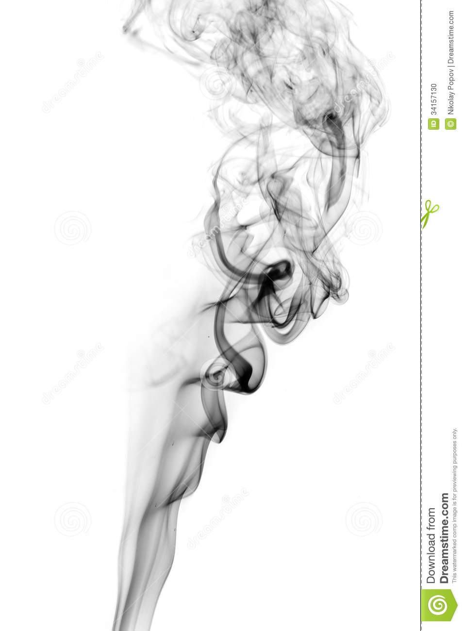 Soot. Black Smoke. Stock Photo - Image: 34157130