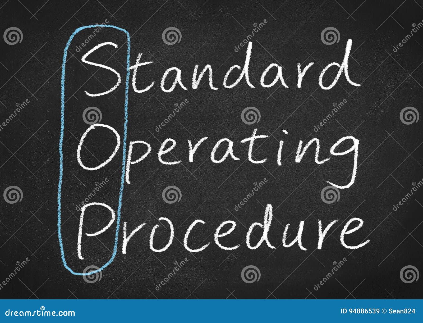 Sop standaard gebruiksprocedure