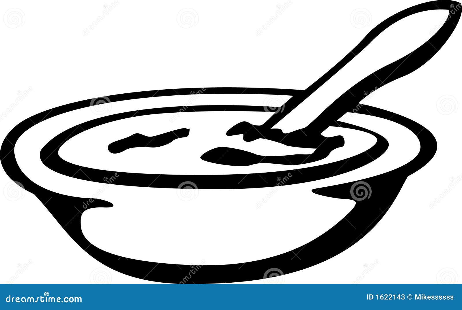 Sopa ilustración del vector. Ilustración de oatmeal ...