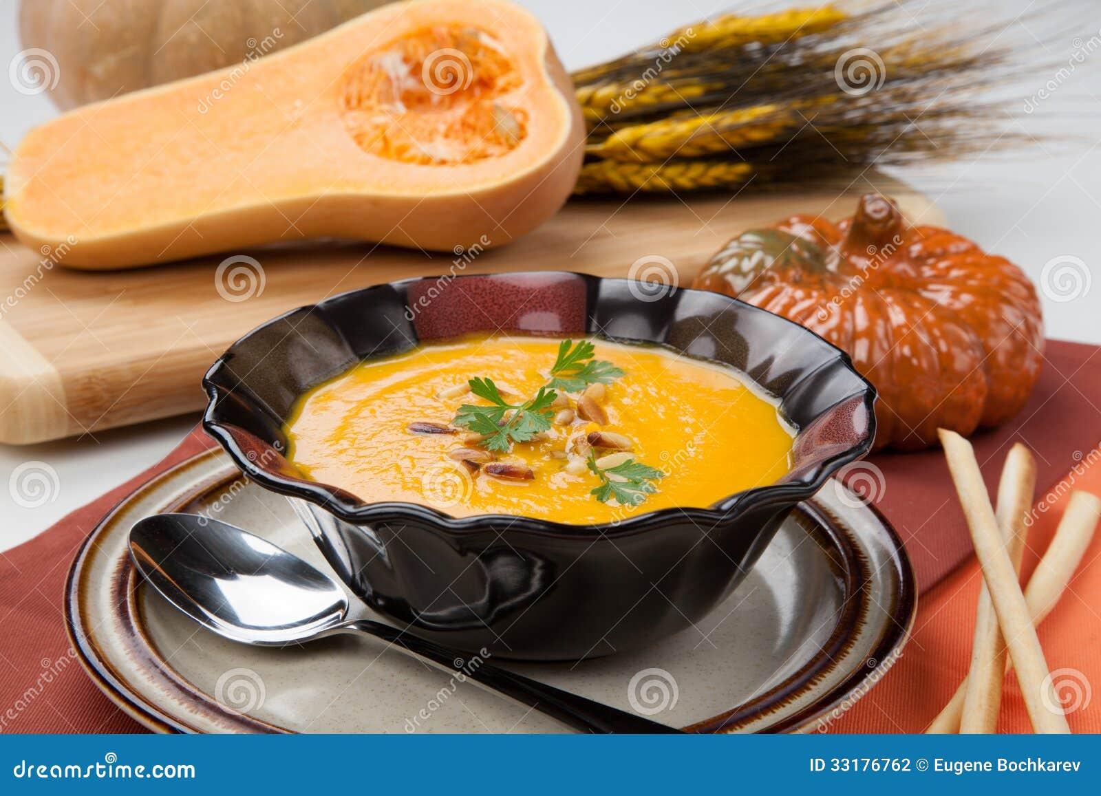 Sopa da polpa de Butternut