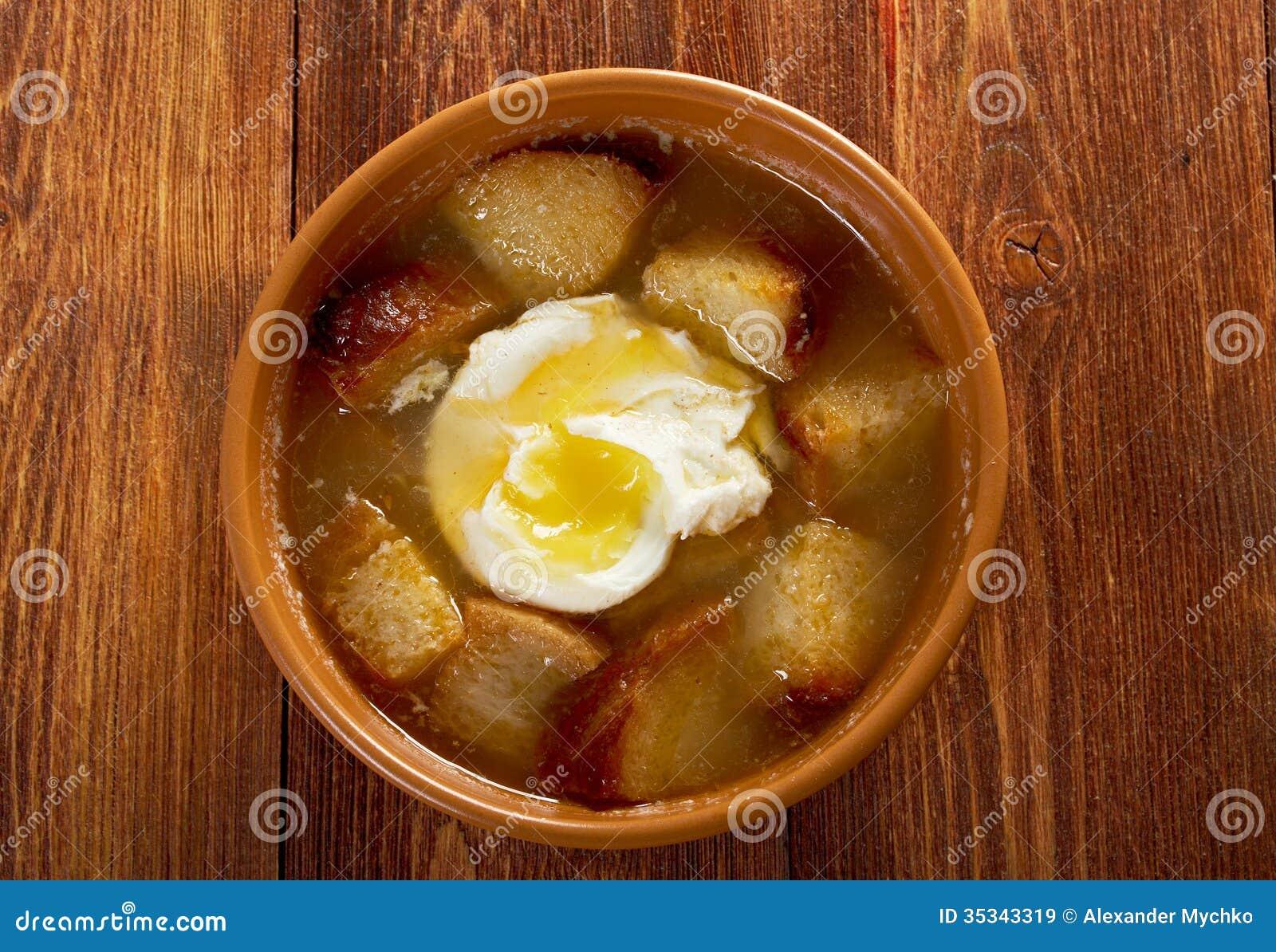 ... sopa de ajo spanish garlic soup recipe soup chick sopa de ajo garlic