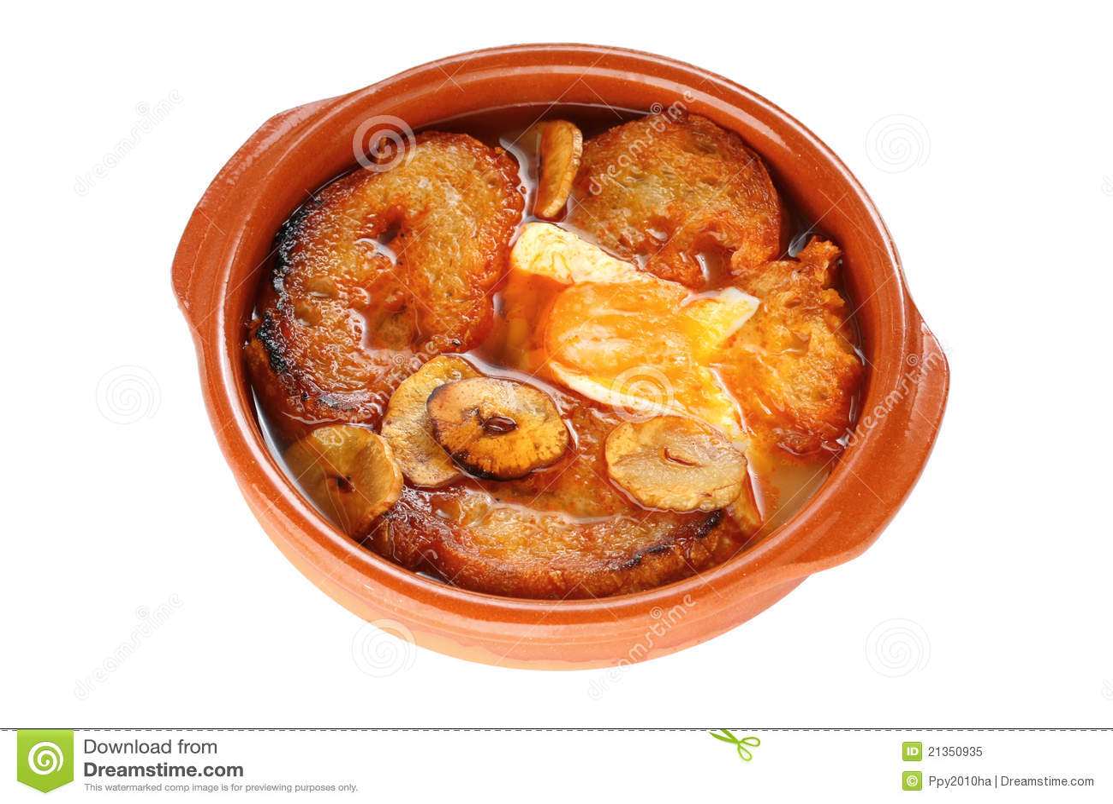 Sopa De Ajo , Castilian Garlic Soup , Spanish Food Royalty Free Stock ...