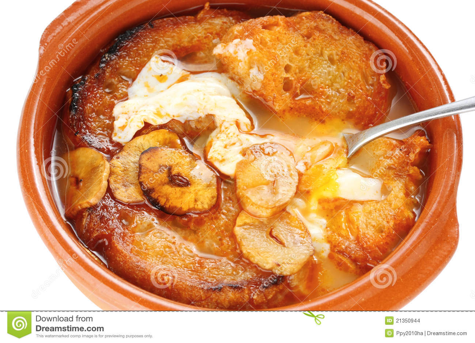 Sopa De Ajo , Castilian Garlic Soup , Spanish Food Stock Images ...