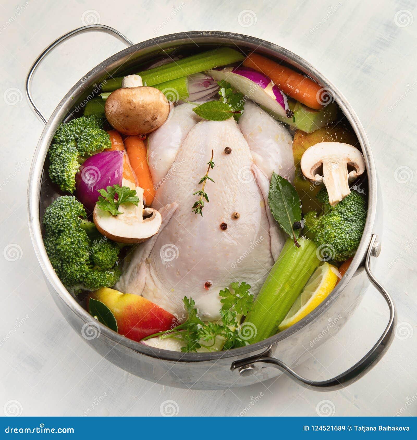 Dieta de sopa de verduras y pollo