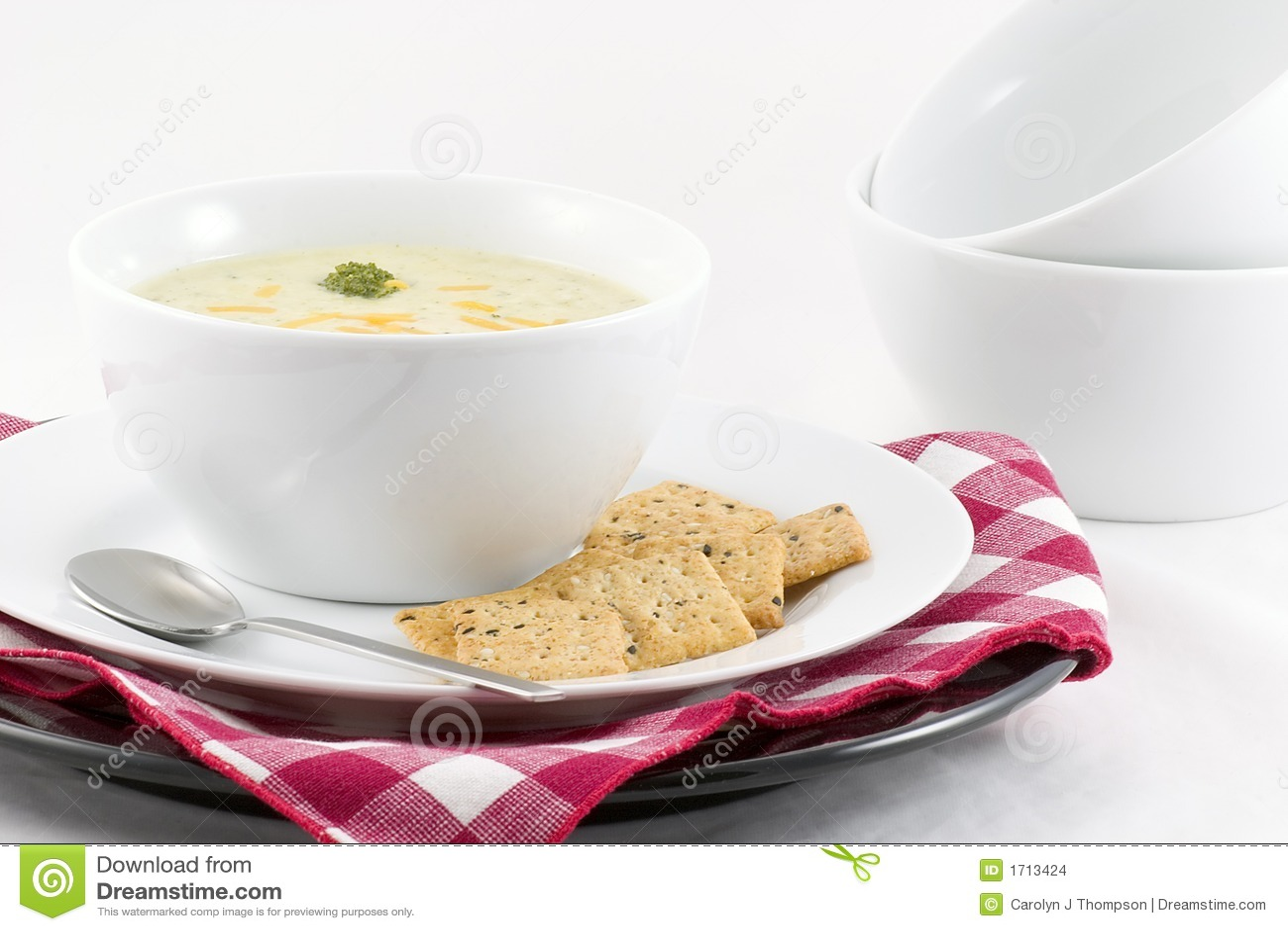 Sopa do queijo dos bróculos