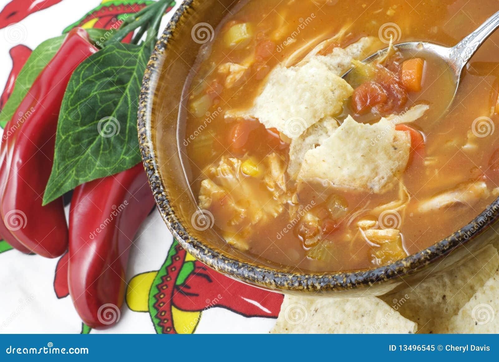 Sopa do Tortilla da galinha