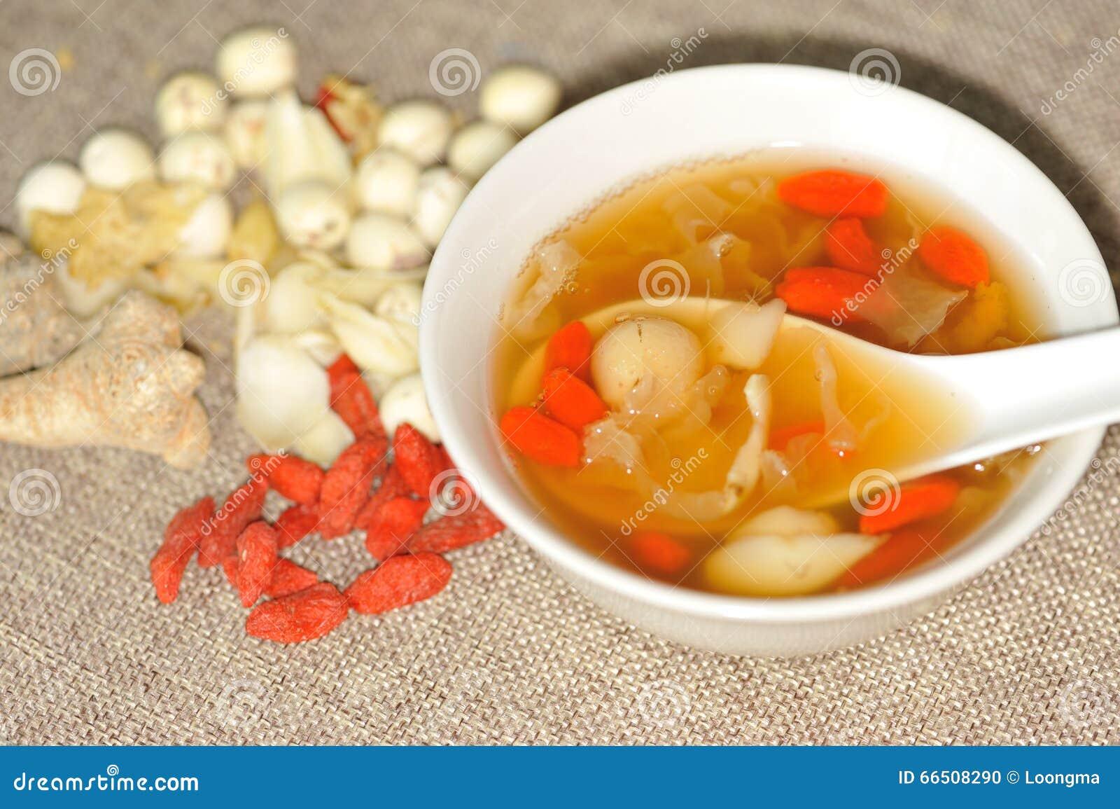 Sopa dulce herbaria china