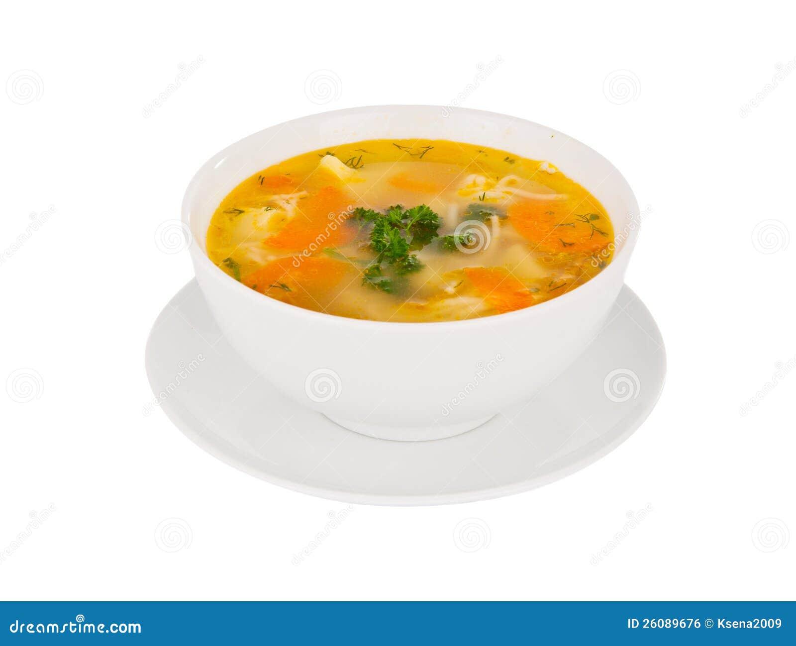 Sopa isolada