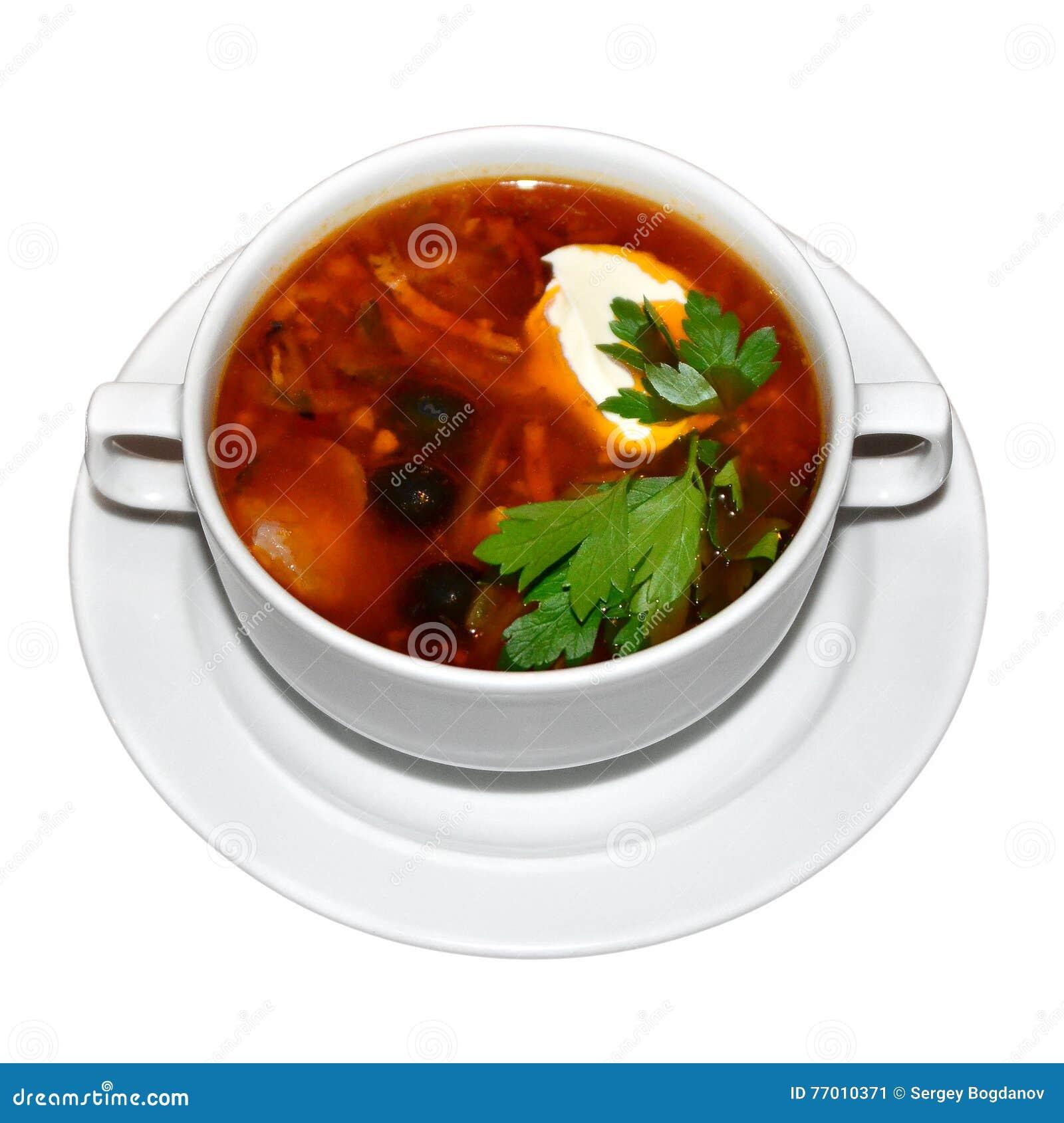 Sopa Solyanka do russo