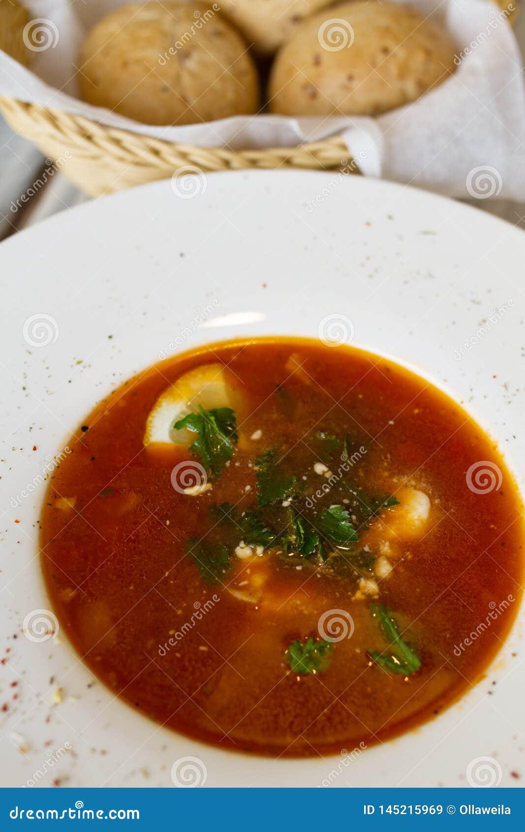 Sopa ucraniana o rusa del borscht