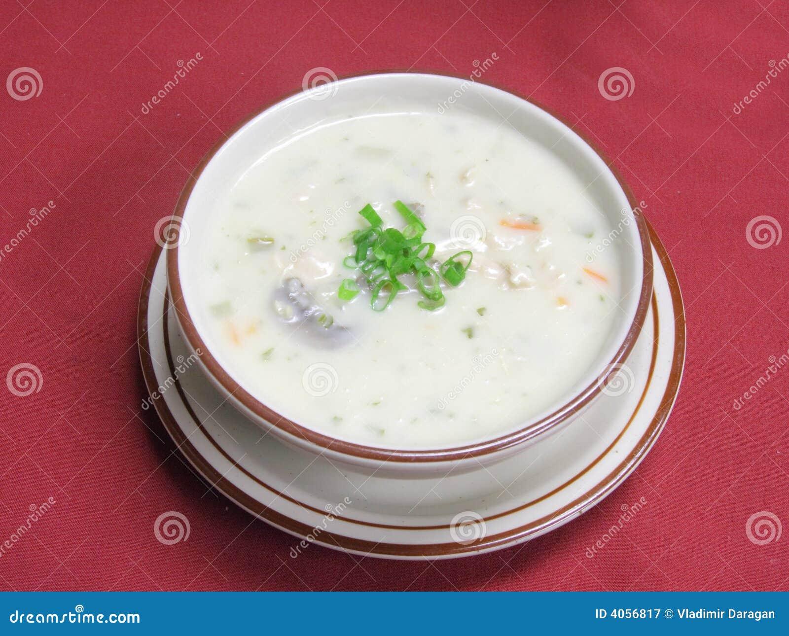 Sopa vegetal na bacia