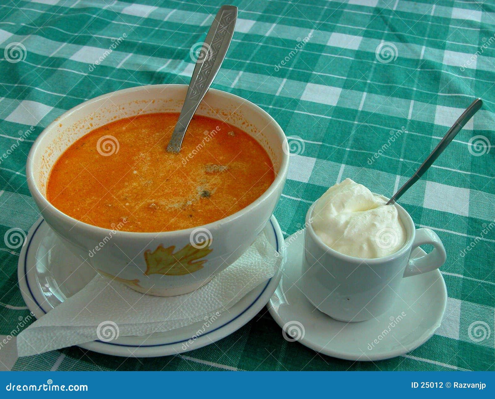 Sopa y crema