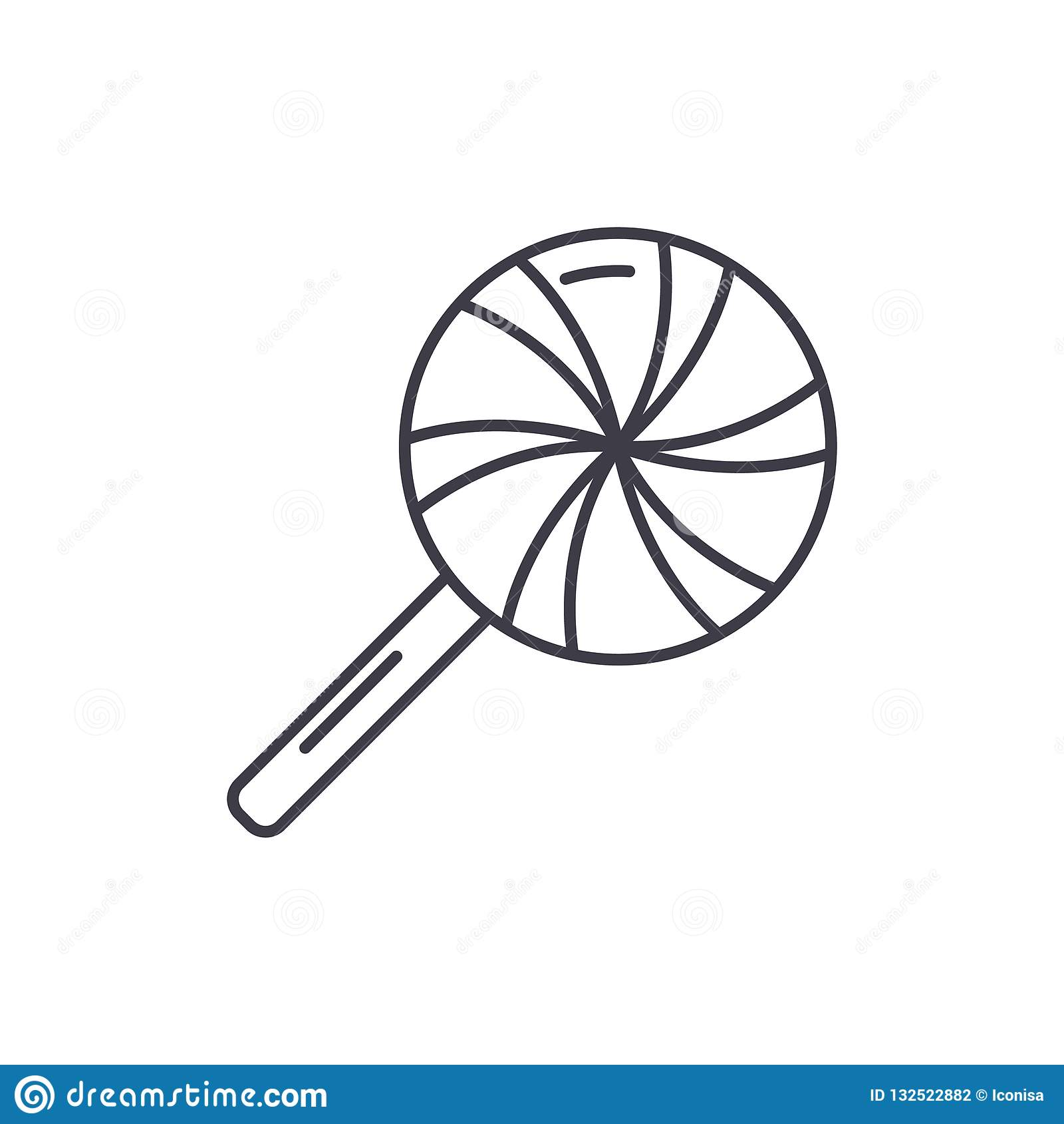 Sopel ikony kreskowy pojęcie Sopel wektorowa liniowa ilustracja, symbol, znak