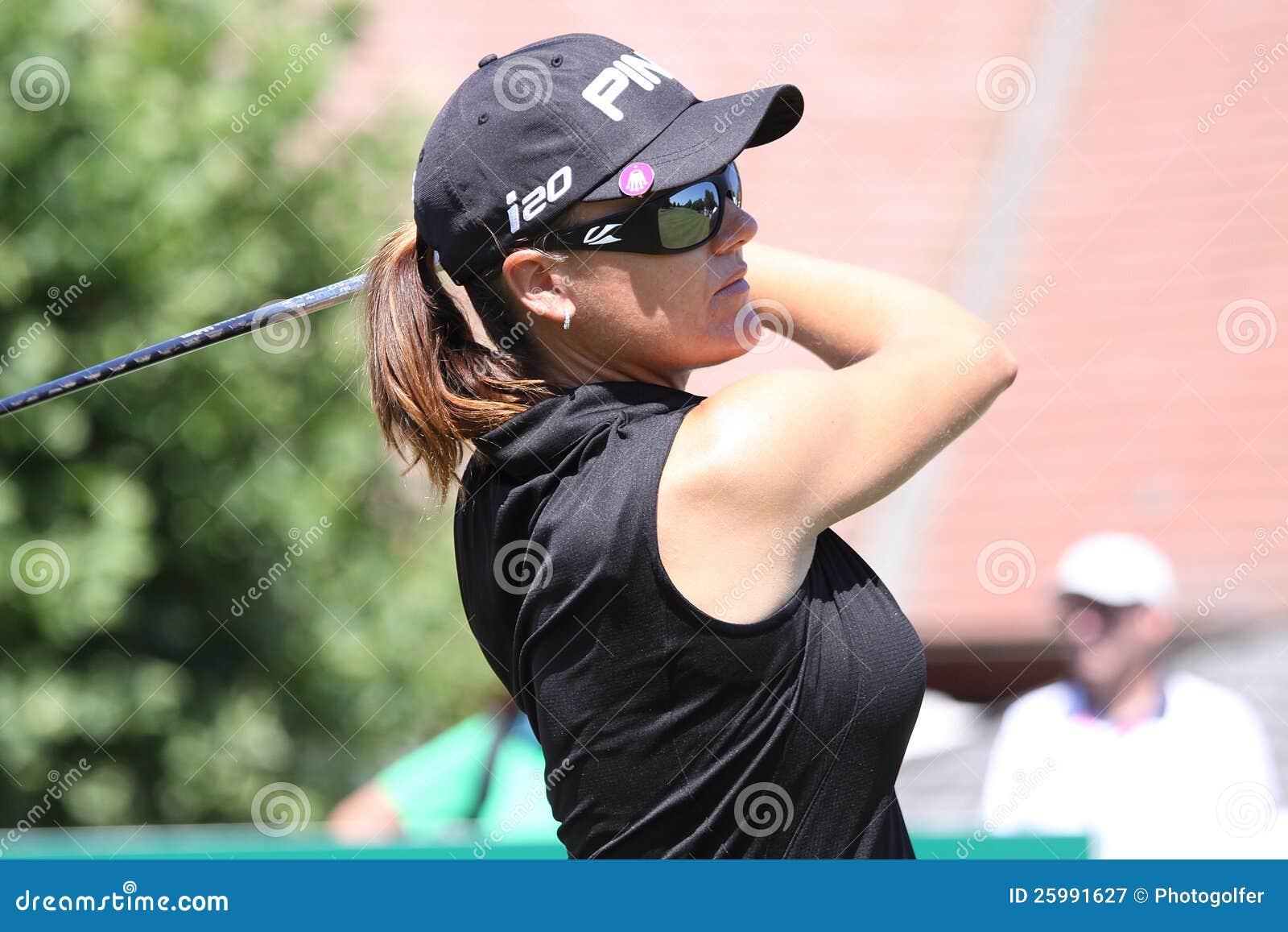 Sophie Gustafson på golf Evian styrer 2012