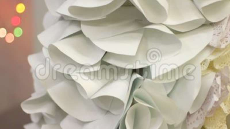 Sophisticated Handmade Paper Dress On Female Mannequin Fashion Show