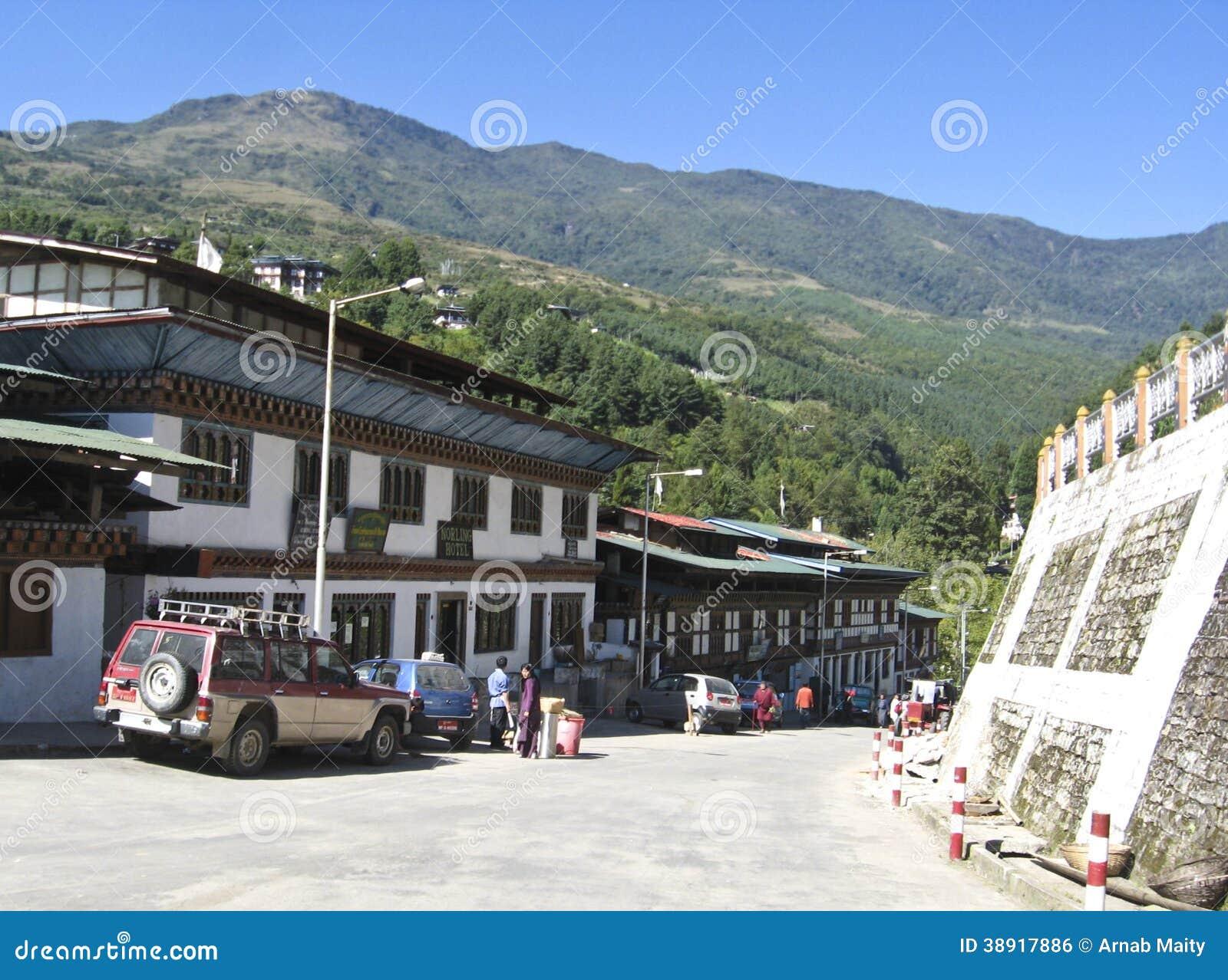 Soporte de autobús en Bhután central