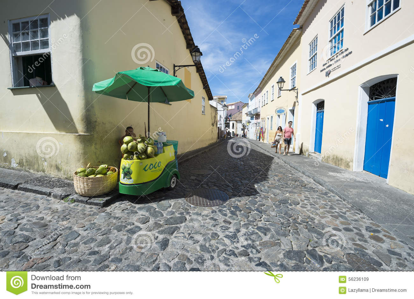 Soporte Salvador Brazil del agua del coco