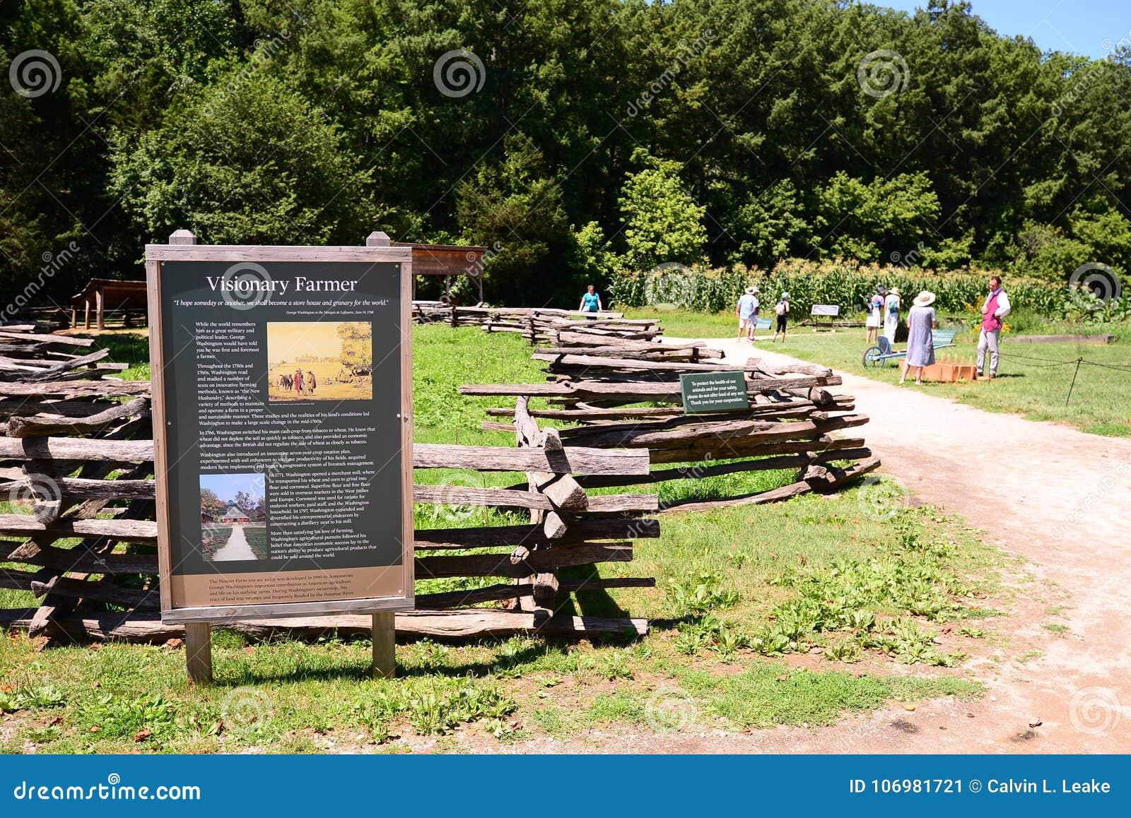 Soporte Vernon Farmland Exhibit del ` s de Washington