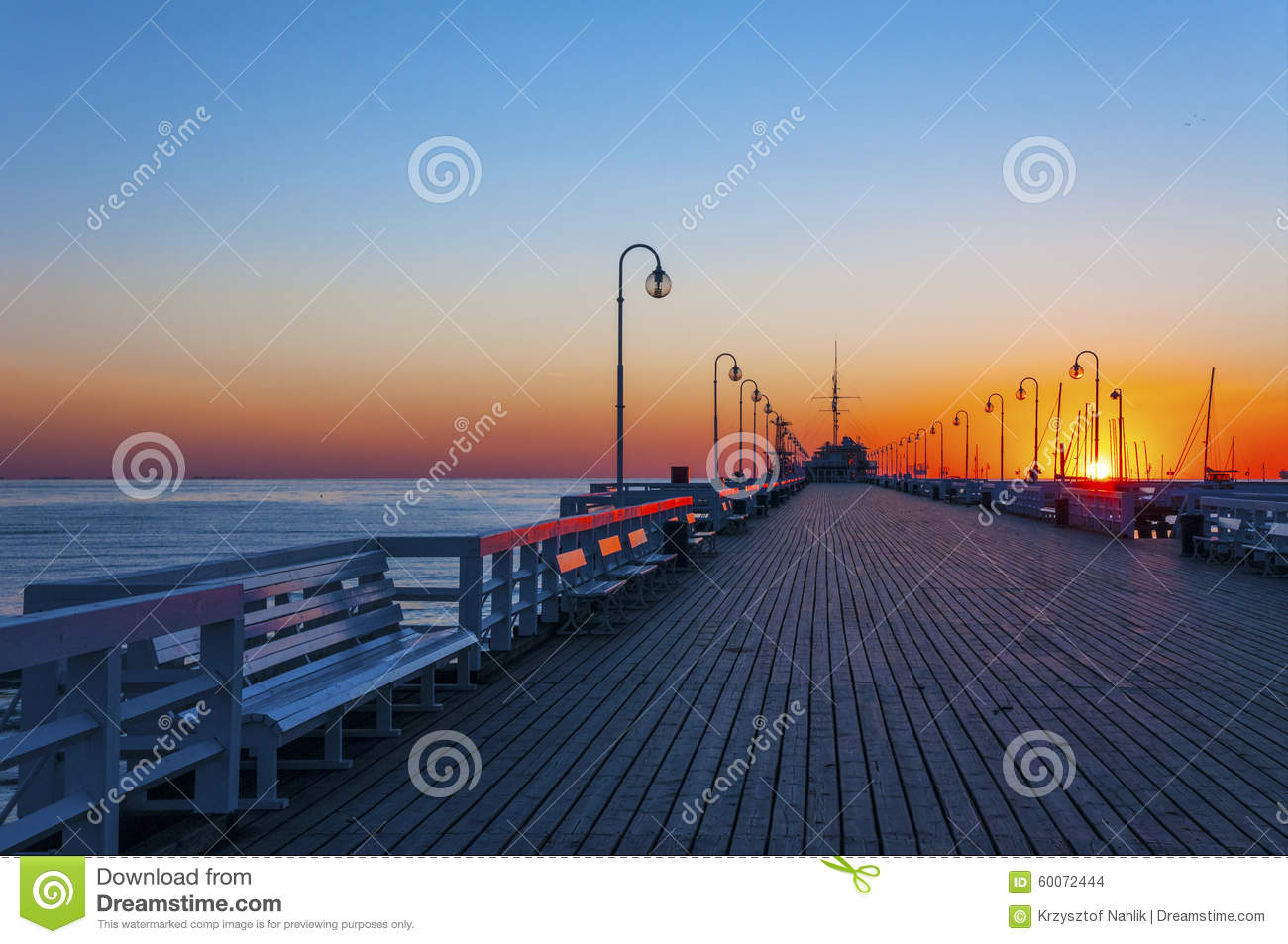 Sopot pier at sunrise
