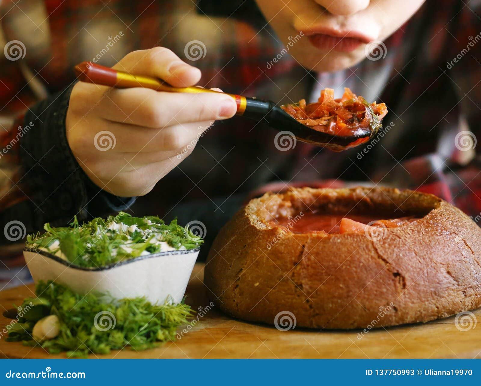Soppasortiment i bunkar med rödbeta, lök, cabage allt strikt vegetarianingradientsslut upp fotoet