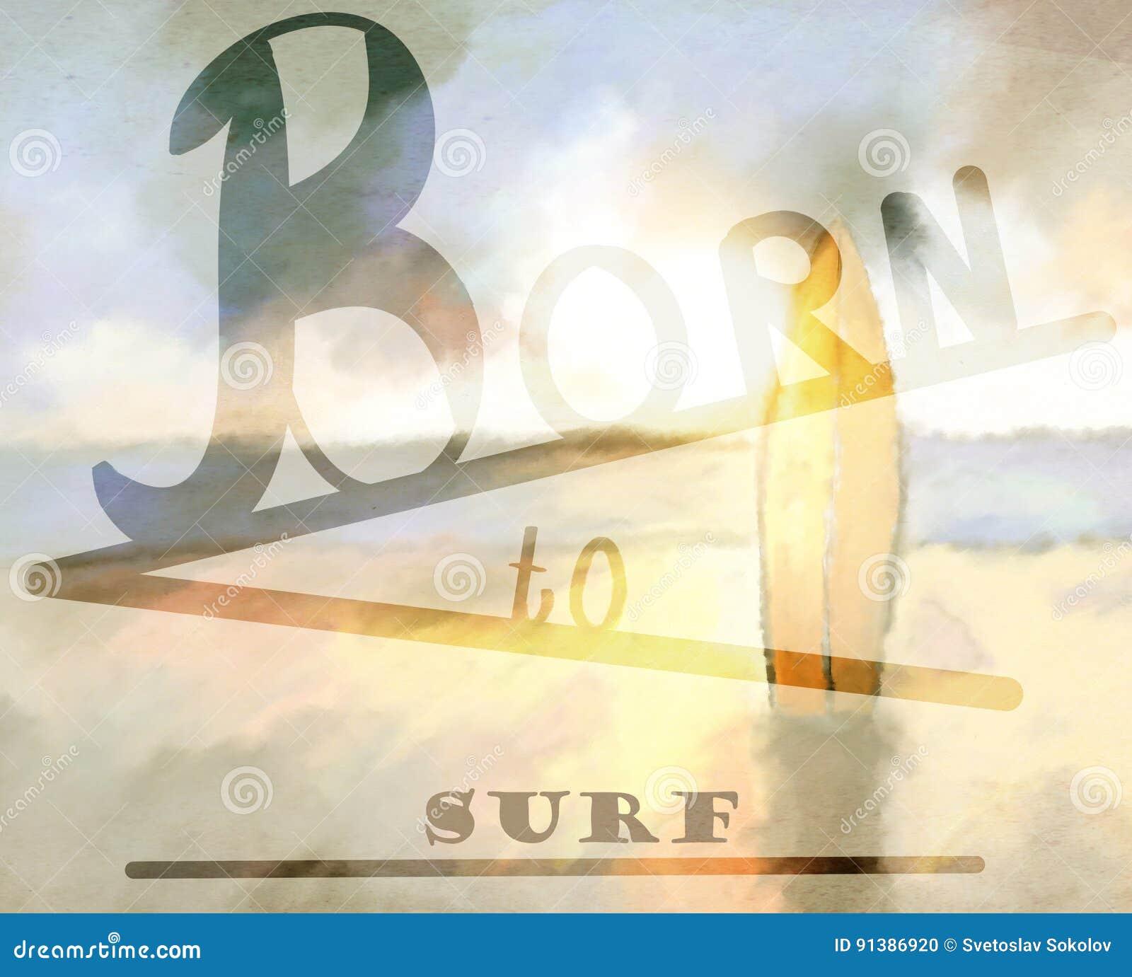 Sopportato praticare il surfing fondo